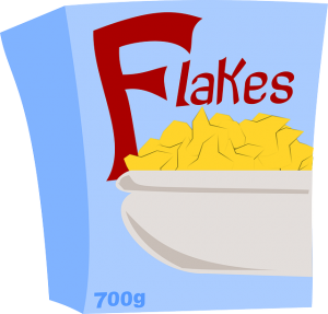 corn flake box carbohydrate